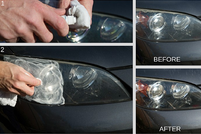 Headlight Hack: Use Tooth Paste