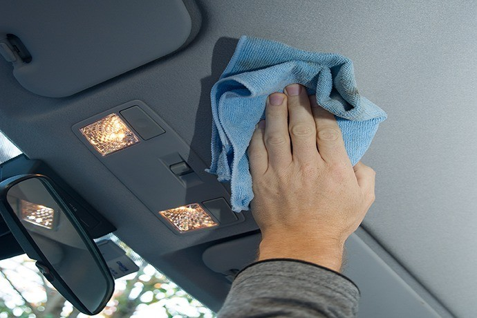 Use a Microfiber Cleaning Cloth On the Ceiling