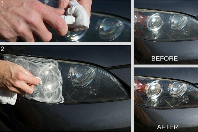 Headlight Hack: Use Tooth Paste