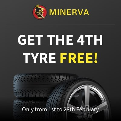Tyre Deal Buy 3 get 4 on MINERVA tyres