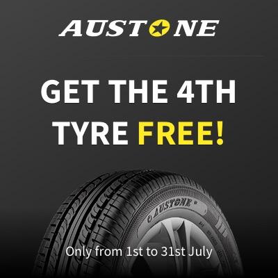 Tyre Deal Buy 3 get 4 on AUSTONE tyres